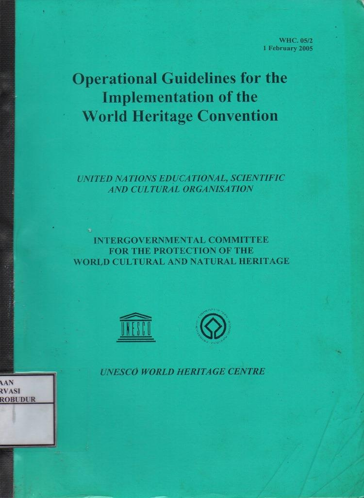 Operational Guidelines For The Implementation Of The World Heritage Convention