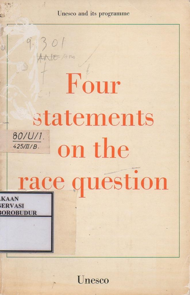 Four Statements On The race Question