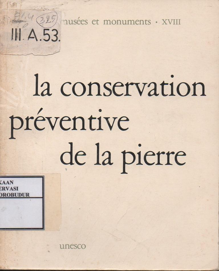 La Conservation Preventive De La Pierre